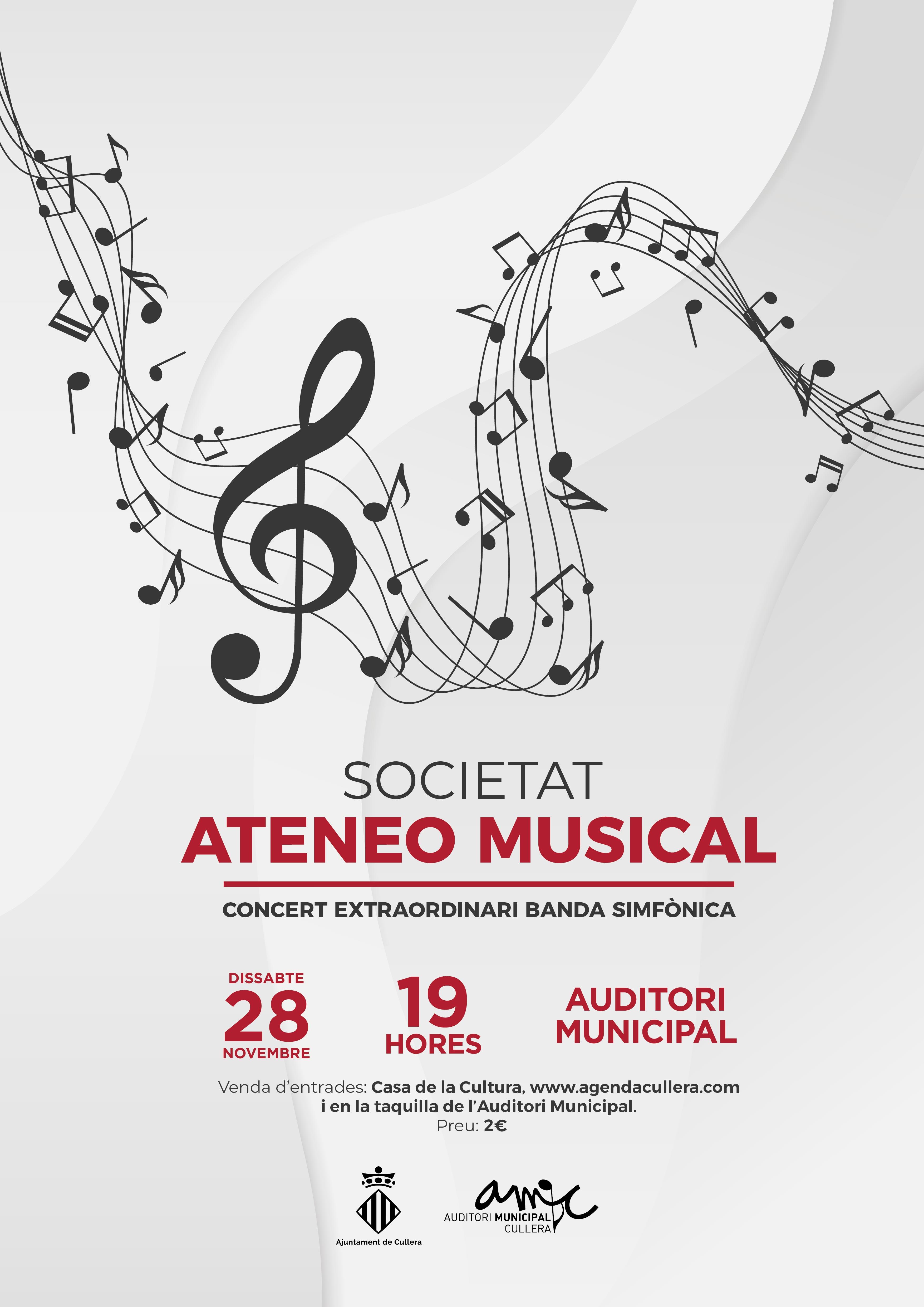CONCERT EXTRAORDINARI BANDA SIMFONICA  ATENEO MUSICAL