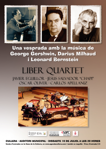 Una vesprada amb la música de George Gershwin, Darius Milhaud i Leonard Bernstein